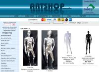 Site do Artshop Manequins