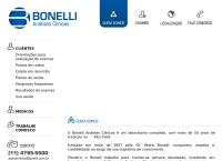 Site do Bonelli Análises Clínicas