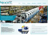 Site do Kinner Silicone Rubber Indústria Comércio Ltda
