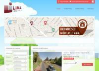 Site do Lima Imóveis Soluções Imobiliárias