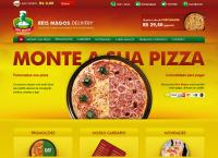 Site do Pizzaria Reis Magos