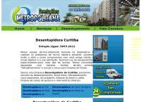 Site do Desentupidora Curitiba Metropolitana