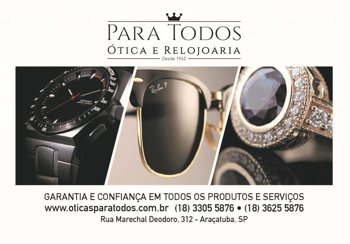 Ótica e Relojoaria Para Todos, Araçatuba, Rua Marechal Deodoro, 312 03dc5bd327