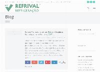 Site do Refrival Refrigeração e Ar Condicionado